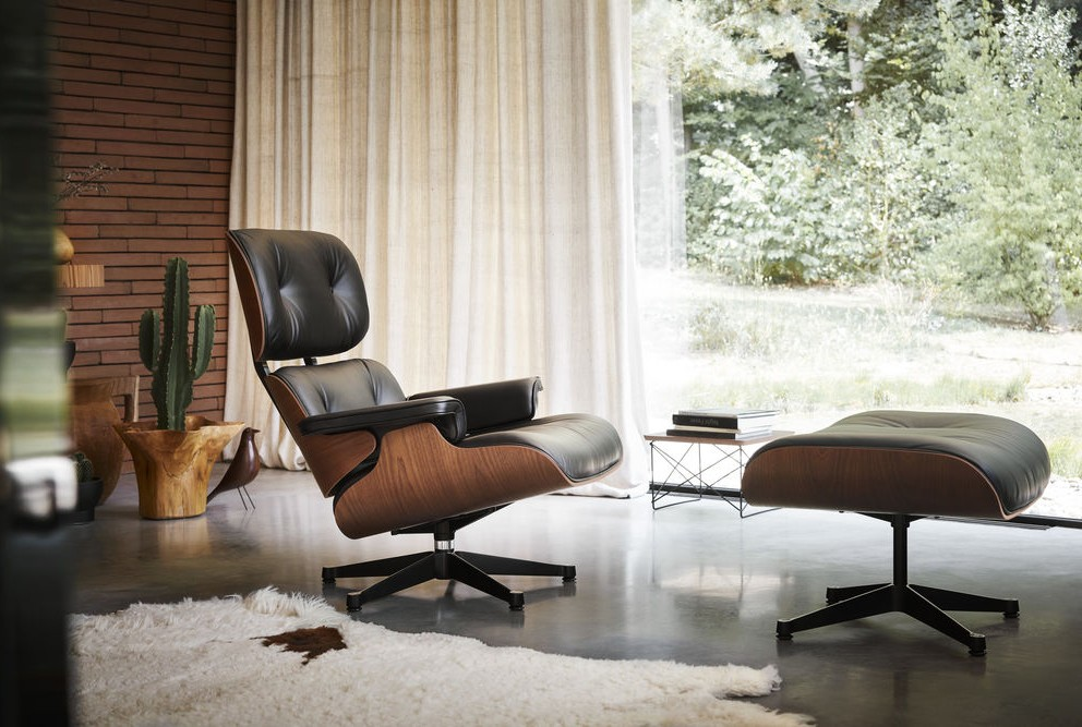 eames lounge i mahogny m belgalleriet stavanger. Black Bedroom Furniture Sets. Home Design Ideas